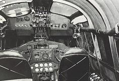 "Pan Am - The cockpit of the Martin M-130 China Clipper. The pilots' ""office"" in the sky as they cross the Pacific."