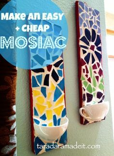 Make beautiful DIY mosaic wall art @istandarddesign