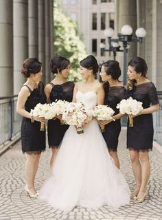 Classic bridesmaids | Photo by Caroline Tran | 30 Details We Love for Classic and Traditional Weddings
