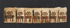 Another beautiful ancient Inca textile from the Pachacamac site, southeast of Lima, Peru, ca 1400.