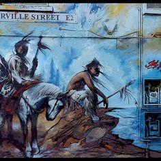 Street art in Turville Street, London