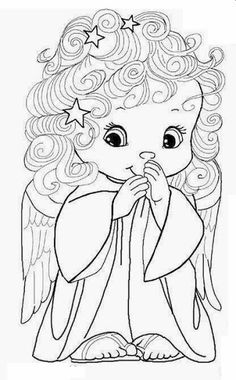 drawings for children Angel Coloring Pages, Colouring Pages, Adult Coloring Pages, Coloring Sheets, Coloring Books, Free Coloring, Coloring Pages For Kids, Christmas Colors, Christmas Crafts