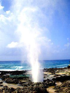 El Hoyo Soplador en la Punta Sur de la isla de San Andrés, un atractivo natural…