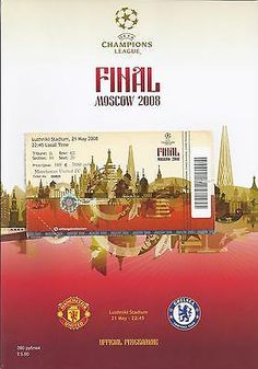 2008 champions #league final chelsea v man utd prog + ticket #manchester #united,  View more on the LINK: http://www.zeppy.io/product/gb/2/182251721859/