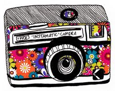 Instant memories Source by aubriakm Instamatic Camera, Camera Drawing, Camera Art, Hippie Art, Photo Illustration, Camera Illustration, Illustrations, Cute Characters, Whimsical Art