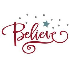 Silhouette Design Store - View Design #102700: believe with star phrase
