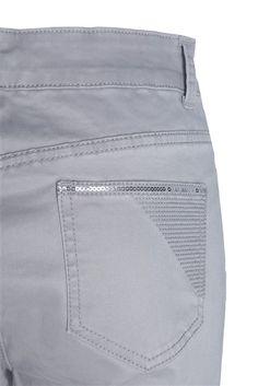 Pantalon stretch broderie et sequins - Femme - Pantalon - Scottage