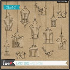 doodled birdcages Bird Doodle, Tangle Doodle, Zen Doodle, Doodle Art, Decoupage Printables, Doodle Sketch, Stencil Designs, Letter Art, Bullet Journal Inspiration