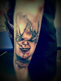 Tatuaje con rostro de Chucky