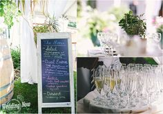 This is everything that a backyard wedding should be! Garden decor, lawn games, misting stations and a delicious pie bar - Photos by Shalena Eaton