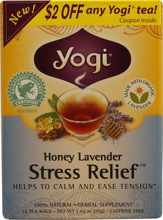 Yogi Stress Relief™Herbal Tea Caffeine Free Honey Lavenderadd a couple drops of valerian and lemon balm and you're good to go! Weight Loss Tea, Weight Loss Drinks, Stress Free, Stress Relief, Pure Green Tea, Tea And Crumpets, Lemon Balm, Anti Stress, Stress Management