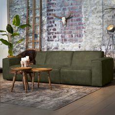 Sevn Bank 'Amarillo' 5-zits, kleur groen #stoerebank #groen #bankstel #echtleer #meubelpartner #showroom