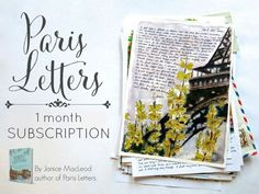 PARIS LETTERS: One letter by JaniceArtShip on Etsy