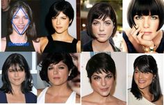 Find the best hairstyle for your diamond shaped face - with a pointy jaw and narrow forehead.