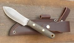 Western Drover Knife features a Nessmuk style blade pattern - Blind Horse Knives