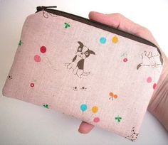 Puppies Little Zipper Pouch Coin Purse ECO Friendly Padded Japanese Import  by JPATPURSES,