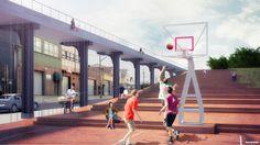 nooyoon proposes upside down bridge connector for queensway NY