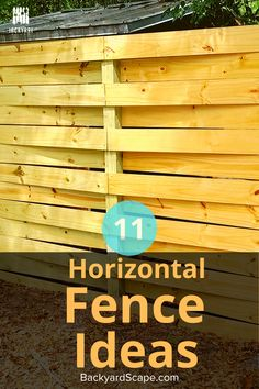 Horizontal fences are a clean way to add privacy and beauty to your backyard. We share with you some of our favorites that we've done. Backyard Fences, Outdoor Landscaping, Front Yard Landscaping, Landscaping Ideas, Backyard Ideas, Shadow Box Fence, Good Neighbor Fence, Different Types Of Wood, Horizontal Fence