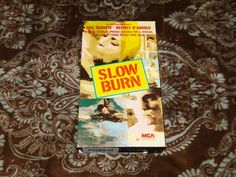 Slow Burn (VHS, 1986) Rare OOP HTF 1st MCA Eric Roberts/Johnny Depp *NOT ON DVD*