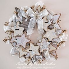 White star wreath. Beautiful!