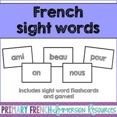 How To Learn French Classroom French Teaching Resources, Teaching French, Learn French Online, Sight Word Flashcards, Site Words, Core French, French Classroom, French Immersion, Ways Of Learning