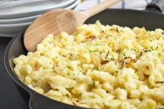 Das Salzburger Land hat viele tolle Rezept zu bieten. Eines der besten ist sicher Pinzgauer Kasnocken.