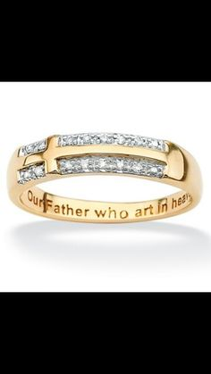 Heavenly father wedding rings