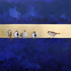 """""""Right Side"""" by Ellen Welch Granter. Oil and Leaf on Canvas, 30""""x30""""  *SOLD*"""