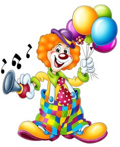 "Photo from album ""Circus on Yandex. Circus Clown, Circus Theme, Circus Book, Clipart Photo, Clown Images, Clown Crafts, Clown Party, Clowning Around, Send In The Clowns"