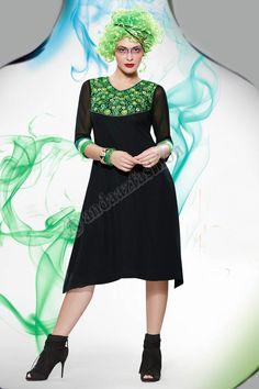 Black Georgette Kurti Design No. DMV12806 Price:- £35.00 Dress Type:Kurti Fabric:Georgette Colour:Black Embellishments:Embroidered, Resham,Work For More Details:- http://www.andaazfashion.co.uk/womens/kurti-tunic/black-georgette-kurti-dmv12806.html