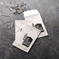 seed packets - cute idea for a company logo/concept!