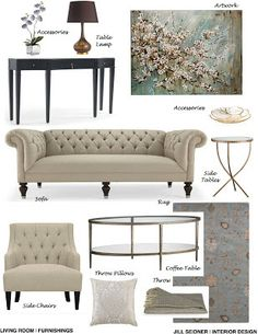 Create A Concept Board For Your Interior Design Ideas Arcadia CA Online Project Living Room Furnishings