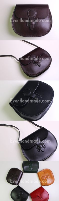 Handmade Leather satchel bag shoulder bag black coffee yellow for