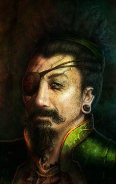 Pirate Samurai Lord by ArtByNath.deviantart.com on @DeviantArt