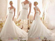 2014New white/ivory wedding dress Bridal gown custom size 6-8-10-12-14-16-18-20+