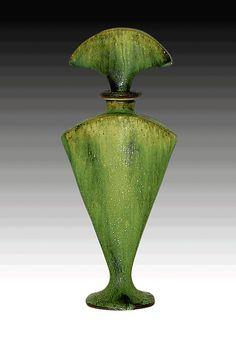 Green perfume Bottle: Daniel Slack: Ceramic Perfume Bottle - Artful Home