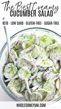 Dill Recipes, Cucumber Recipes, Low Carb Recipes, Real Food Recipes, Cooking Recipes, Healthy Recipes, Fast Recipes, Vegetarian Recipes, Recipe For Cucumber Salad