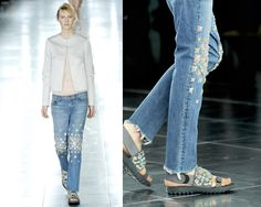 Christopher Kane_SS12_cool idea to glam up my old pair of jeans...