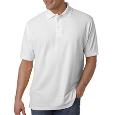 Whisper pique polo shirt. 60% cotton / 40% polyester.