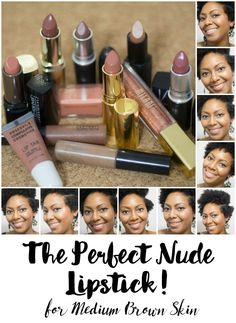 www.beingmelody.com | The Perfect Nude Lipsticks for Medium Brown Skin | http://www.beingmelody.com