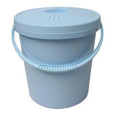 Junior Joy - Contenedor para pañales con tapa, color azul