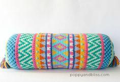 Vivo Tapestry Crochet cushion pattern by Poppy & Bliss