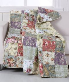 Look at this #zulilyfind! Beverly's Place Reversible Quilted Throw #zulilyfinds