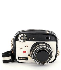 Betsey Johnson Camera Faux Leather CrossBody Bag - $88 #Dillards