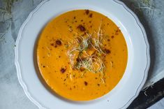 Roasted Sweet Potato and Bell Pepper Soup