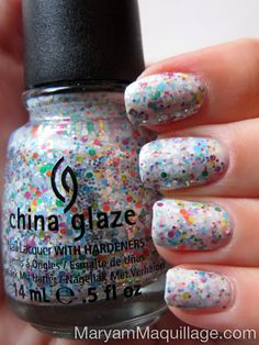 "! Maryam Maquillage !: ""Glitter Milkshake"" or ""Wedding Day Glitters"" Nail Art!"