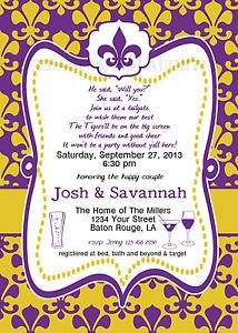 LSU Stock The Bar Bridal Shower Invitation Digital File 5x7 Wedding | eBay