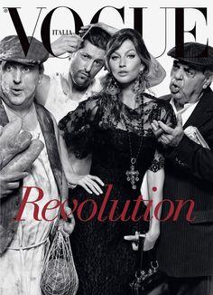Gisele Bundchen by Steven Meisel for Vogue Italia July 2013