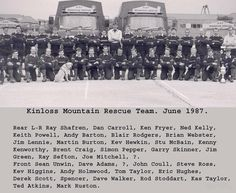 Kinloss MRT 1987 - a year after I had left the team but mostly familiar faces, some others I have gotten to know on later occasions.