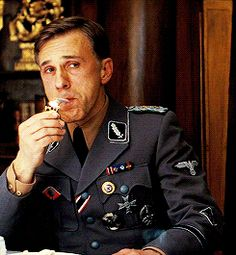 Hans Landa, Christoph Waltz, Brad Pitt, Inglourious Basterds, Quentin Tarantino, Ww2, World War, Movie Stars, Thinking Of You